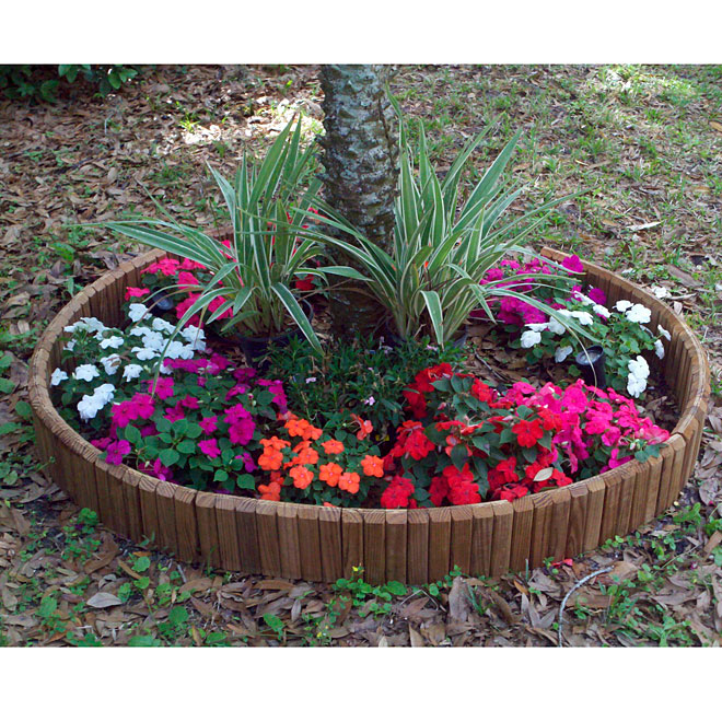 Wooden lawn edging rona for Garden accessories canada