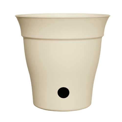 """Contempra"" Pot with inside saucer - Cream"