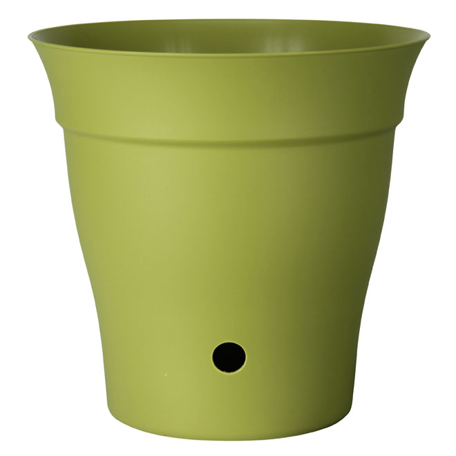 """Contempra"" Pot with inside saucer - Green"