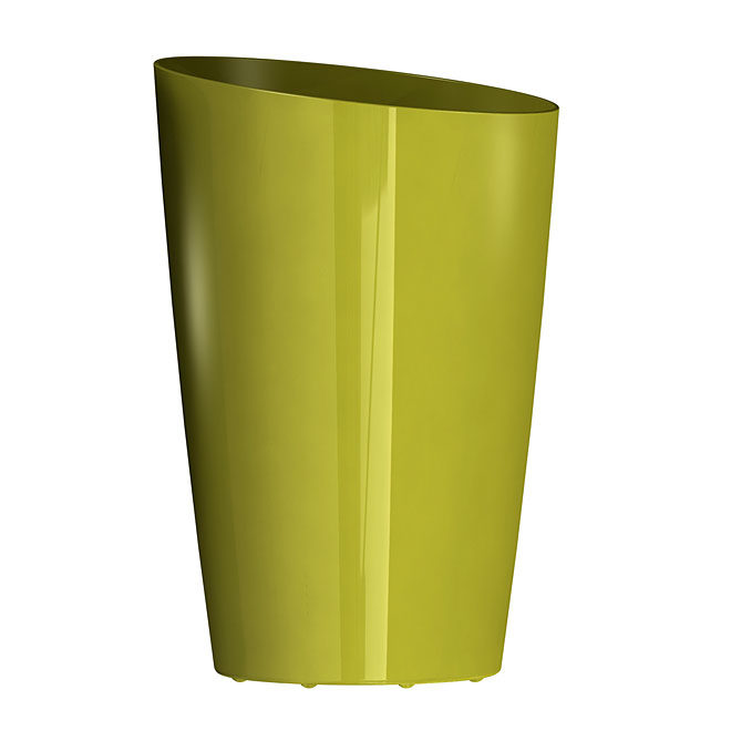 """Mirage"" Elongated Planter - Gloss Avocado"
