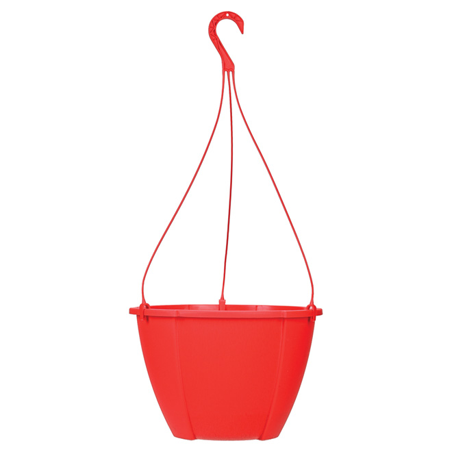 """Quattro"" Hanging Planter - Red"