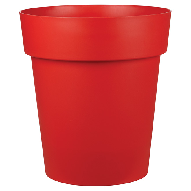 """Viva"" Plastic Planter - 17"" x 19"" - Flat Red"