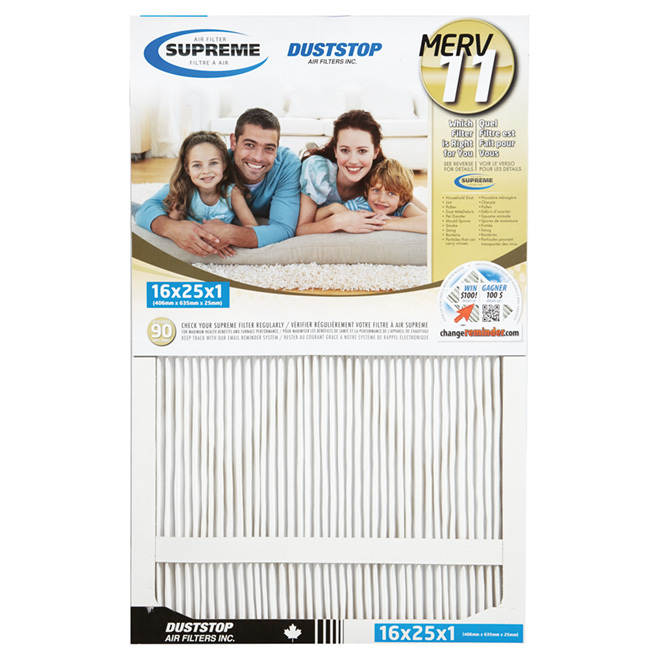 "Supreme Electrostatic Pleated Air Filter - 16"" x 25"" x 1"""