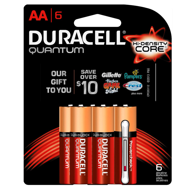 Pack of 6-AA Batteries