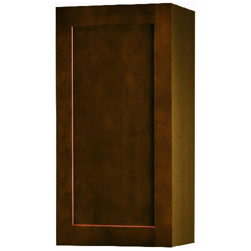 "Wall Cabinet with 1 Door - ""Everwood"" - 9"" - Espresso"