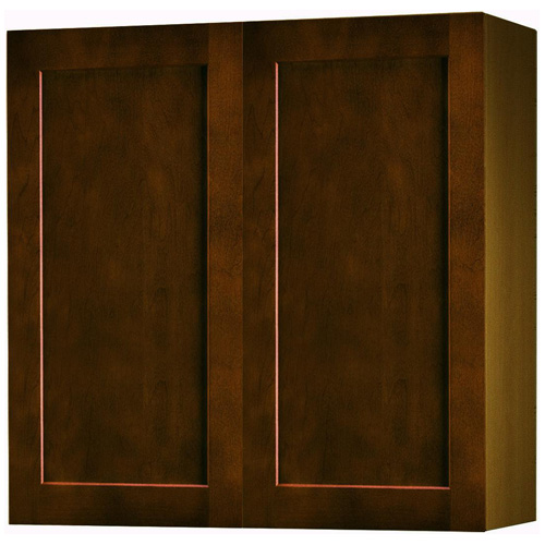 "Wall Cabinet with 2 Doors - ""Everwood"" - 27"" - Espresso"