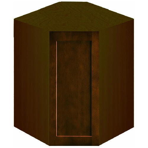 "Wall Corner Cabinet with 1 Door - ""Everwood"" - Espresso"