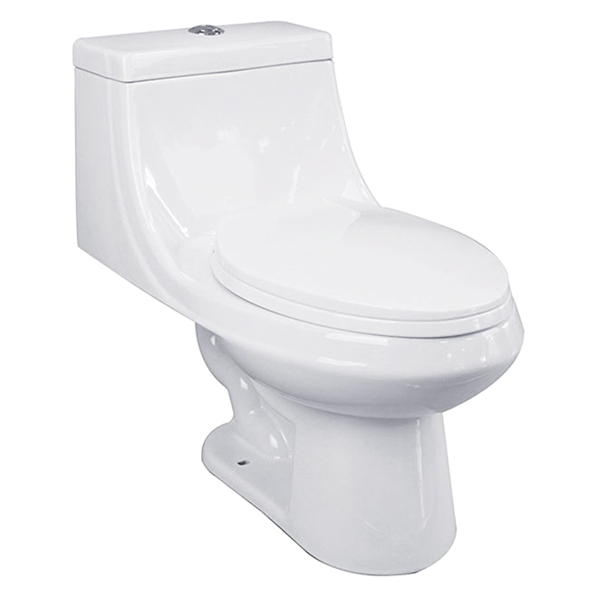 elongated front 1 piece toilet 3 8 l 6 l white rona