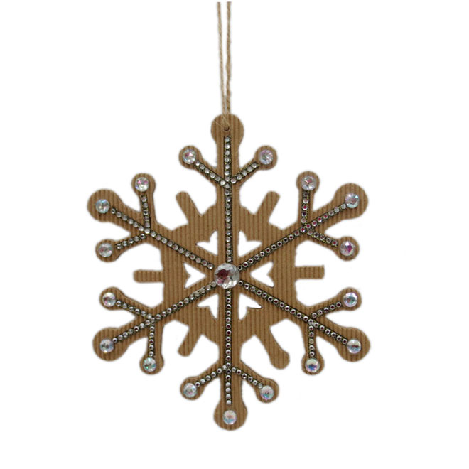 Snowflake Ornament - Natural/Silver - 3-Piece Set