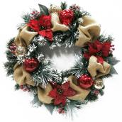 Decorated Artificial Wreath - 30