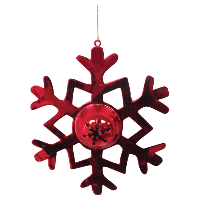 Snowflake Ornament - Red - 3-Piece Set