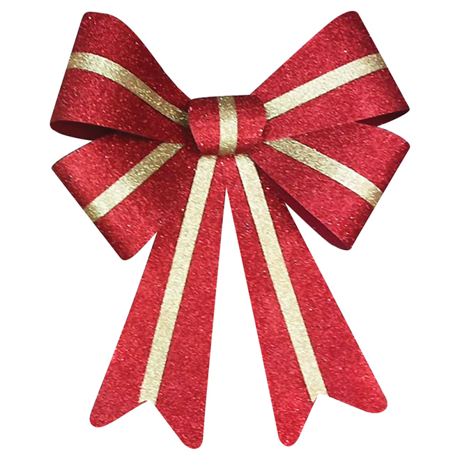 "Decorative Bow - 16"" x 14"" - Red/Gold"