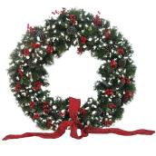 Battery-Operated Lighted Decorated Artificial Wreath - 48