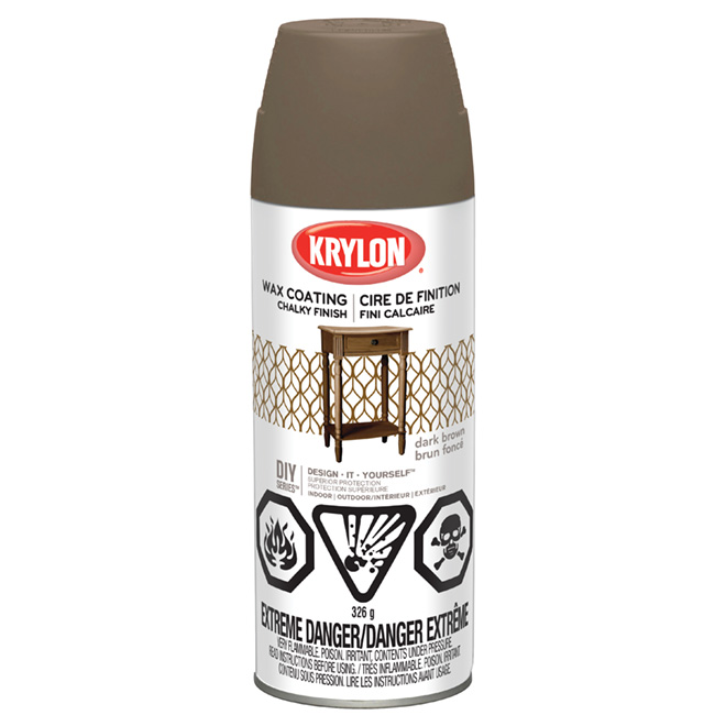 Aerosol Finishing Wax - Chalky Finish - Dark Brown
