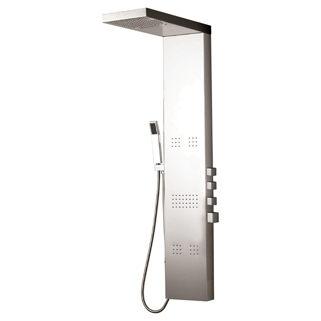shower column stainless steel rona. Black Bedroom Furniture Sets. Home Design Ideas