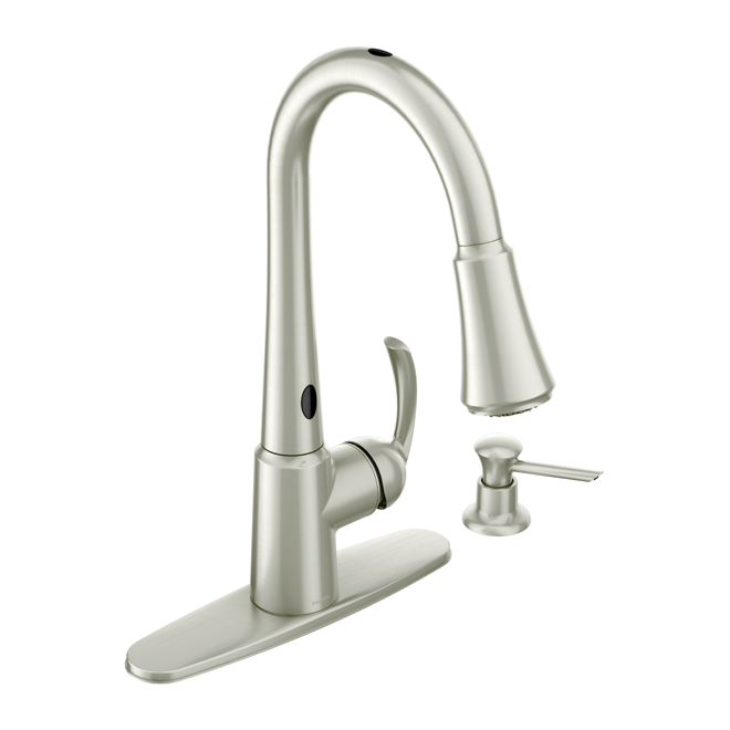 delaney 1 handle kitchen faucet rona quot industrial quot kitchen faucet rona