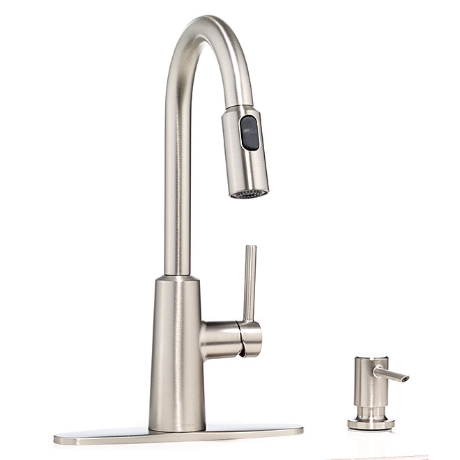 quot nori quot kitchen faucet rona pull down kitchen faucet quot nexo quot brushed nickel rona