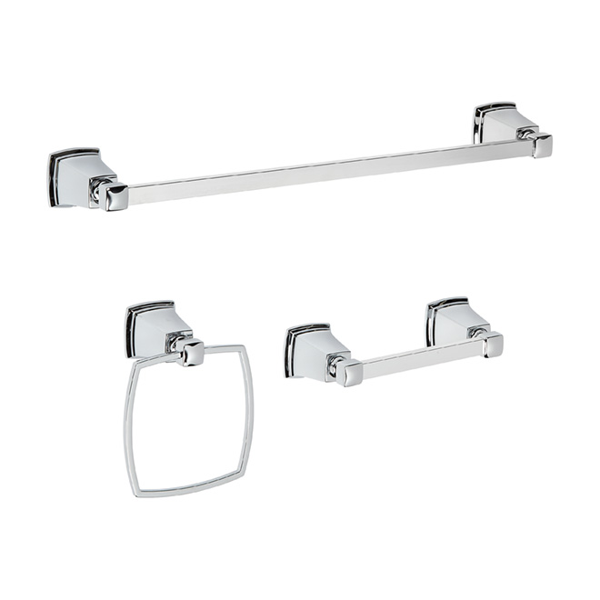 Boardwalk 3 Piece Bathroom Accessory Set   Chrome