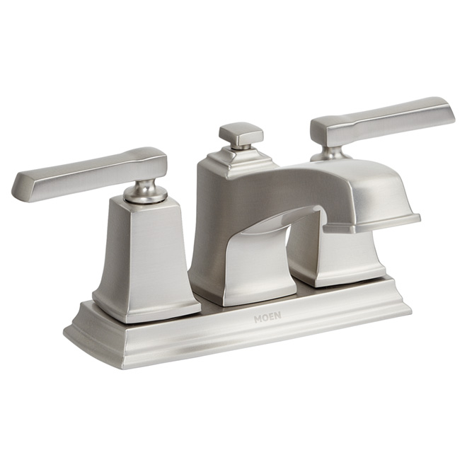 Bathroom Faucet - 2 Handles - Brushed Nickel