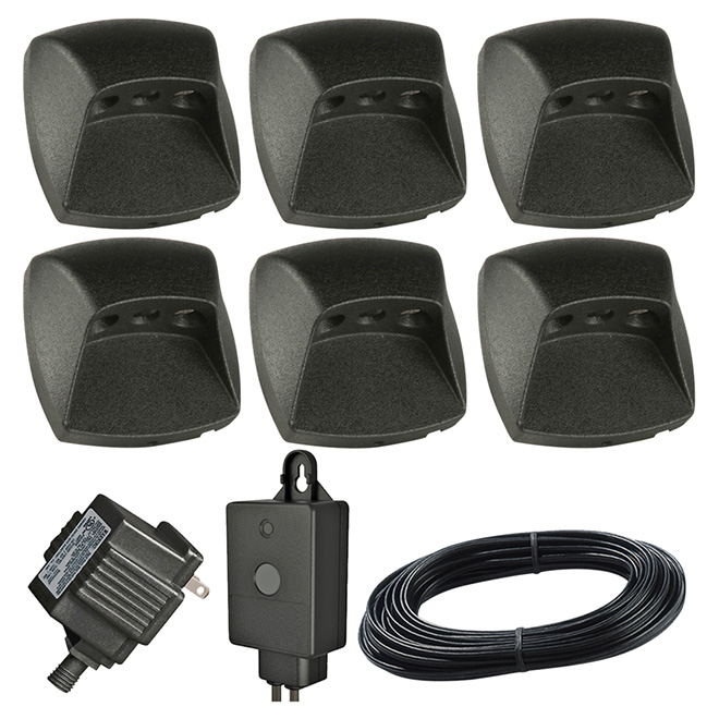 LED Deck and Stair Light - Black - 6-Piece