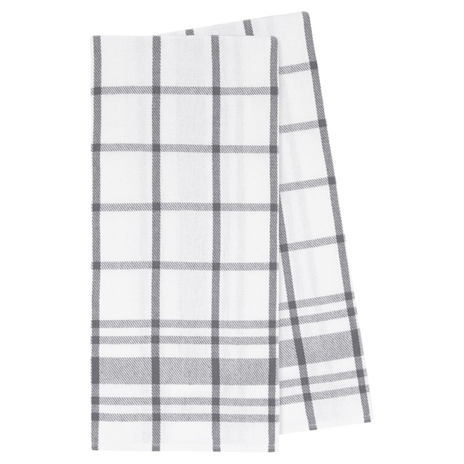 "Cotton Tea Towel - 20"" x 30"" - Pack of 2 - Charcoal"