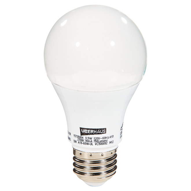 9.5-W A19 LED Bulb - Pack of 2