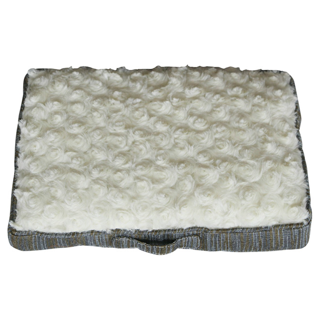"Dog Pet Bed - 35"" - Grey/Brown"