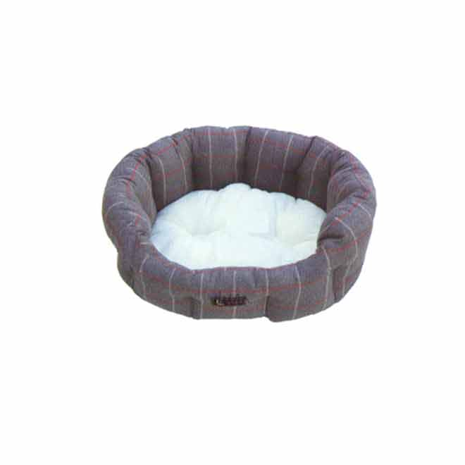 "Dog Pet Bed - 22"" - Grey/White"