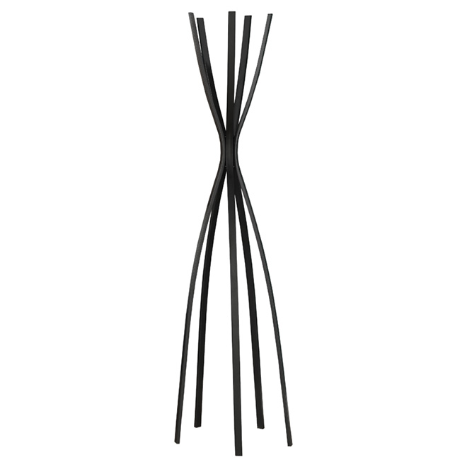 Rack - Contemporary Coat Rack - Satin Black