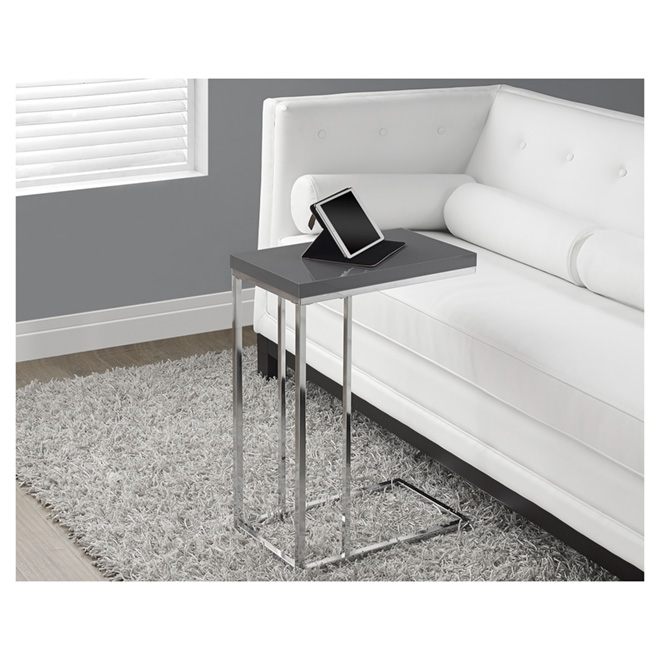 Table - Chrome Accent Table - Grey