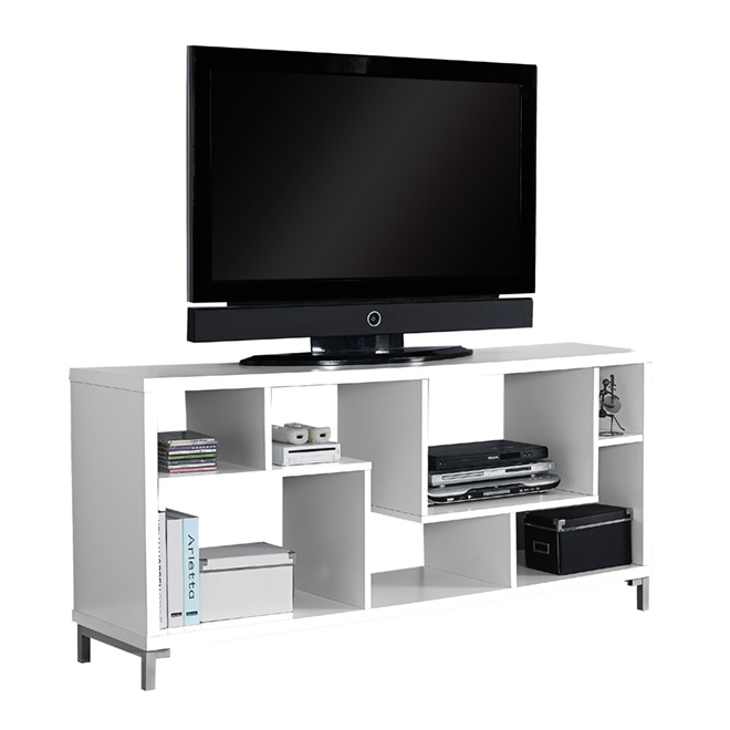 "TV Console - 7-Shelf TV Console 28"" x 60"" - White"