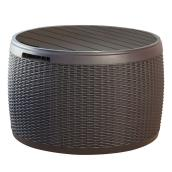 Circular Deck Box - 37 gallon - Brown