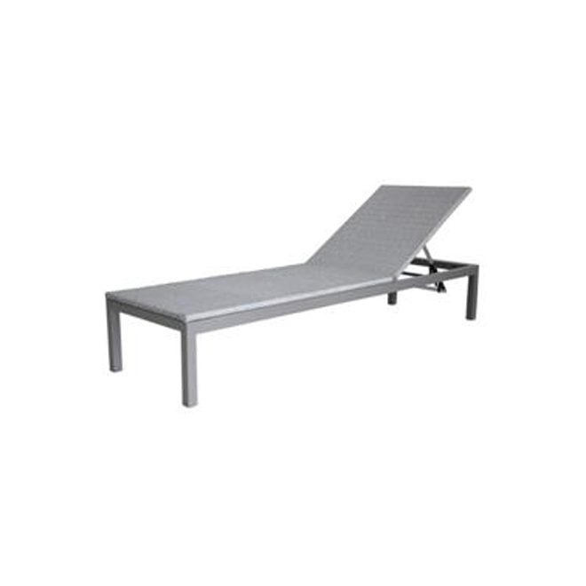 Chaise longue empilable « Luxembourg », gris