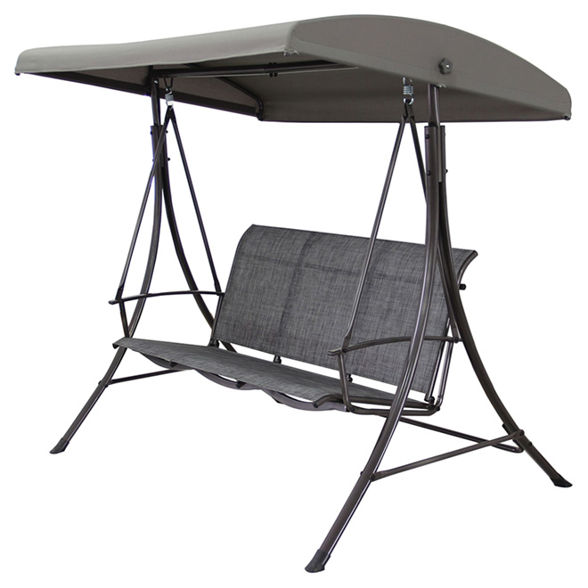 """Manhattan"" 3-Seat Swing - Grey"