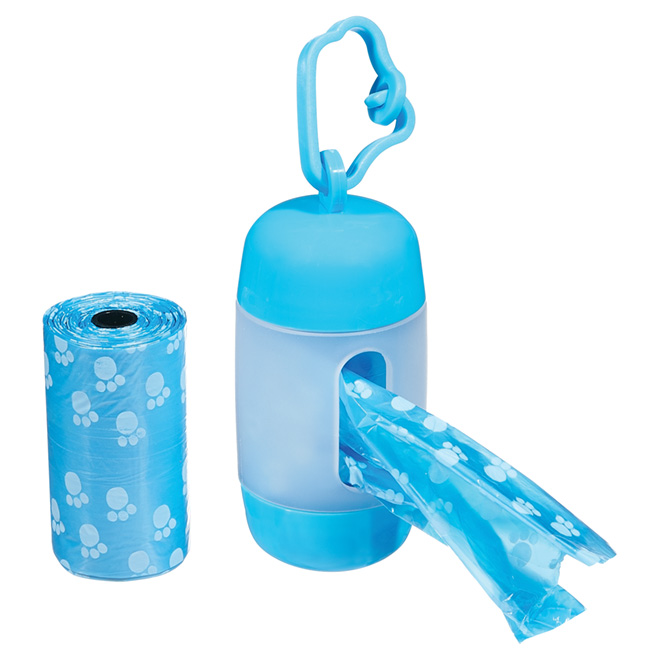 Waste Bag Dispenser and Bags - 2 Rolls