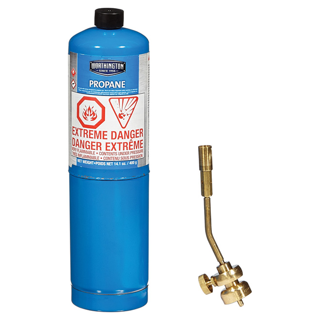 All Brass Propane Torch with 14.1 oz. Cylinder