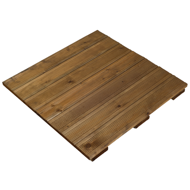 "Wood Deck Tile - Tanatone Brown - 24"" x 24"""