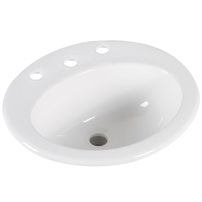 "Drop-in Lavatory - Oval - 20"" x 16 7/8"" - White"