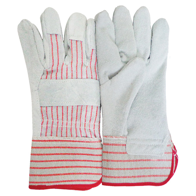 "10 1/2"" Grey and Red Working Gloves"
