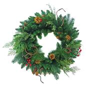 Decorated Artificial Wreath - 24