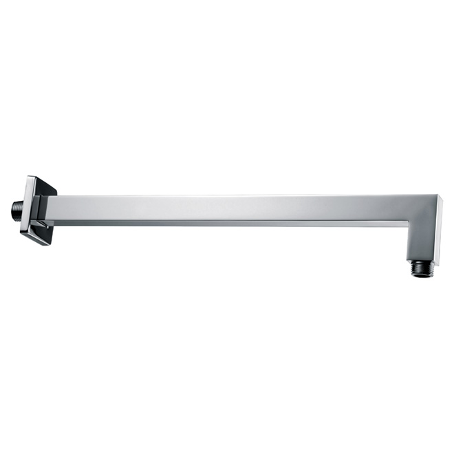 "Wall-Mounted Shower Arm - 18.9"" - Square"