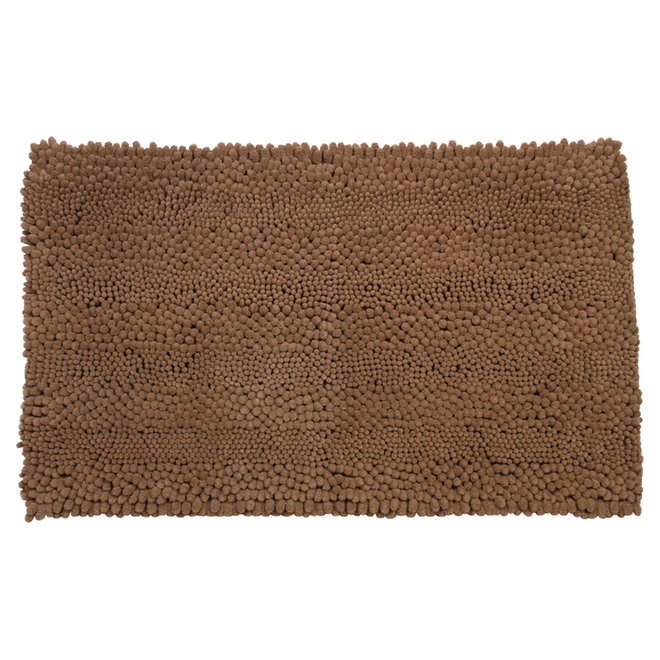 "Bath Mat - Chenille - 20"" x 32"" - Brown"