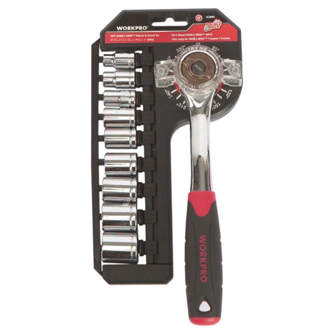 Set of 10-Piece with Ratchet and Sockets