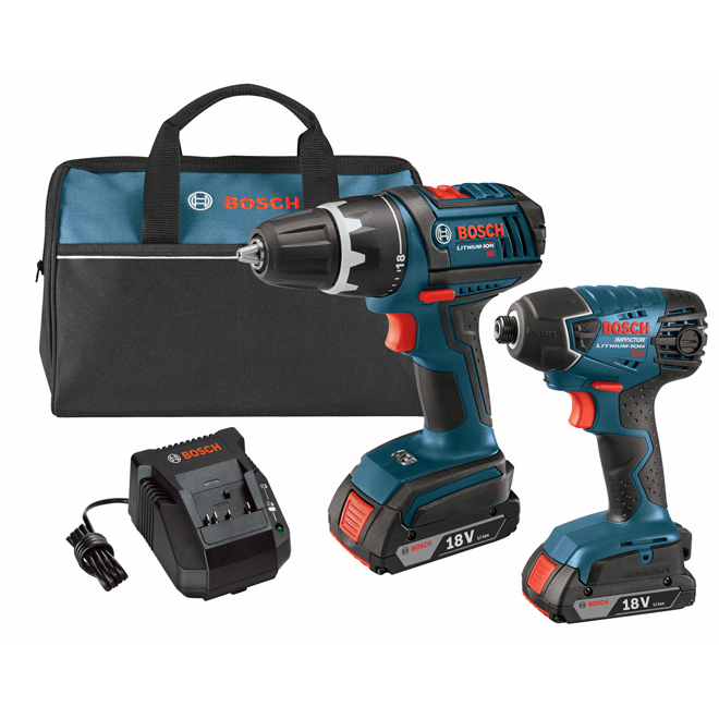 18-V Cordless Drill with Impact Driver