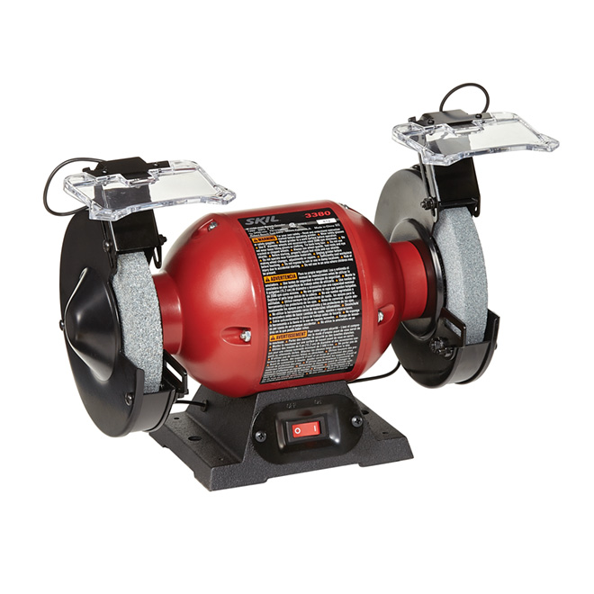 "6"" Bench Grinder with Light - 2.1A"