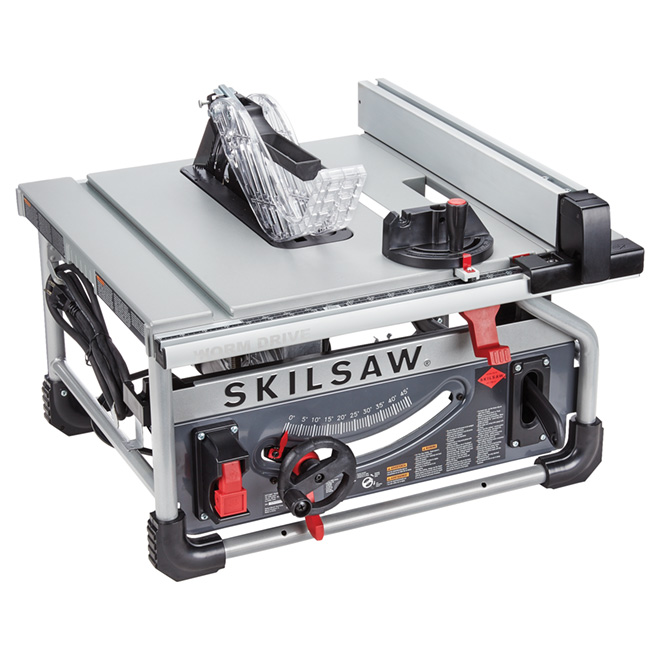 "Worm Drive Table Saw -10"" - Aluminum - Grey/Red"