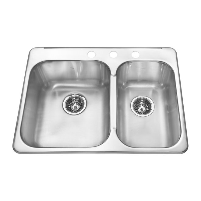 One and a half basin kitchen sink