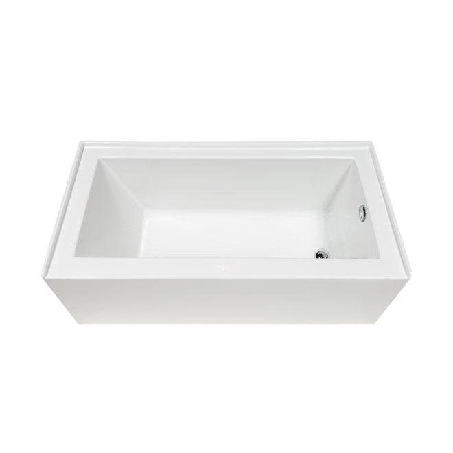 Plenitude Acrylic Bathtub Right 31 Quot X 60 Quot X 20 Quot Rona