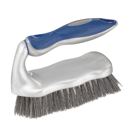 Scrub brush with safety handle