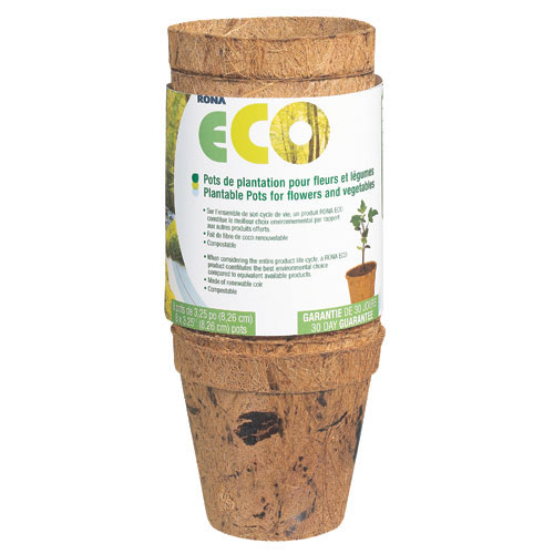 3 1/4-In. Biodegradable Plantable Pots